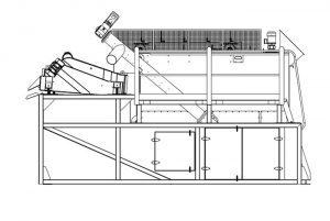 design drawing of a sand separation system
